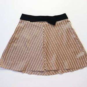 Marc Jacobs Silk Mini Skirt Striped Velvet Bow